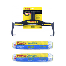 """Purdy Adjustable Paint Roller Frame + 2 x 12"""" Colossus Roller Sleeves - tracked"""
