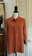 Soft Surroundings Tunic Shirt   Sz M 100% tencel in rust