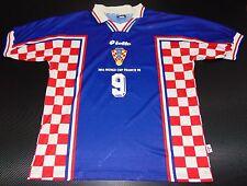 Croatia WC 1998 Suker Away Shirt Real Madrid Jersey Arsenal Maglia Korea-Japan