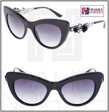 edc196a3fadb Dolce   Gabbana 4302 Flower Lace Black Gunmetal JEWEL Cat Eye Sunglasses  Dg4302
