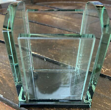GLASS pen / pencil holder desk office organize secretary NEW