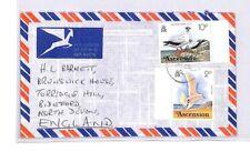 BQ44 1977 Ascension Island Air Mail Cover Devon Great Britain PTS