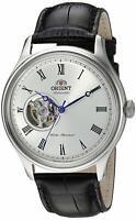 Orient FAG00003W Envoy Open Heart Automatic White Dial Black Leather Men's Watch