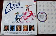 ESSENTIAL OPERA LASERDISC DECCA (1992) UK 12 HIGHLIGHTS METROPOLITAN OPERA PAL