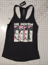 ONE DIRECTION Bars TANK TOP Ladies MED 4 Faces Unworn NWT Black Thin Distressed