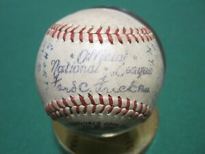 Spalding Official National League Game Used Baseball Cubs VS Giants 7-27-47
