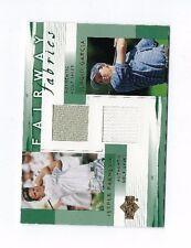 2002 UD SERGIO GARCIA JESPER PARNEVIK JERSEY CARD #PG-FFC UPPER DECK GOLF