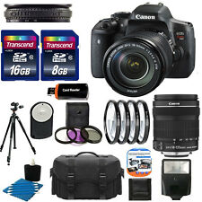 Canon EOS Rebel T6i DSLR Cmaera With 18-135mm STM Lens kit + 24GB Complete  Kit