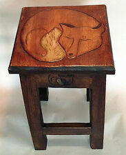 Tables - Sleeping Fox Accent Table - Wooden Tables - Fox Table