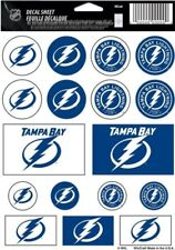 Tampa Bay Lightning ~ Lot of (17) Stickers ~ 5x7 Inch Sheet