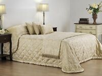 Bianca Duchess Champagne Bedspread Set in All Sizes