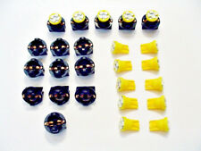 "15 Yellow 4 LEDs Light Bulbs 1/2"" Sockets License Plate Dashboard Side Marker GM"