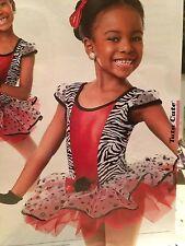 EN STOCK multi zèbre JAZZ Robinet Moderne Pageant robe de danse costume enfant moyen