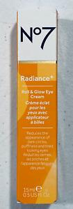No7 Radiance+ Roll & Glow Eye Cream 0.5oz (15ml) BRAND NEW>FREE SHIPPING!