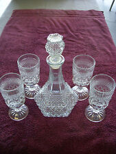 Wexford by Anchor Hocking Decanter with 4 Stemmed Glasses
