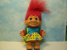 """School Girl With Backpack - 5"""" Russ Troll Doll - New In Original Wrapper"""