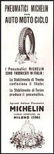 PUBBLICITA' 1929 OMINO BIBENDUM MICHELIN TRENTO TORINO GOMME AUTO MOTO CICLO