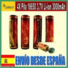 4X PILA RECARGABLE 18650 3000mAh Li-ion 3,7V TrustFire Litio Batería Protección