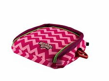 BubbleBum Backless Booster Car Seat, Pink Chevron