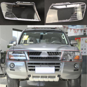 For 2003-2010 MITSUBISHI Pajero Montero V73 LH+RH Headlights Kit Lens Lamp Cover