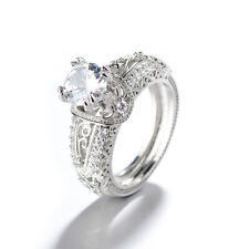 Rose/White Gold Plated Cubic Zirconia Lady Party Jewelry Ring