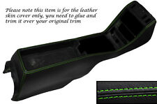GREEN STITCH CENTRE CONSOLE LEATHER SKIN COVER FITS MERCEDES W123 1978-1985