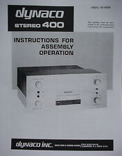 DYNACO STEREO 400 AMPLIFIER ASSEMBLY MANUAL 39 pages