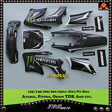 APOLLO PLASTICS STICKER KIT DIRT BIKE 125/140/250CC FOR ATOMIK/FOXICO/PITPRO