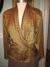 Anne Klein Gold 100% Silk Blouse Size 8