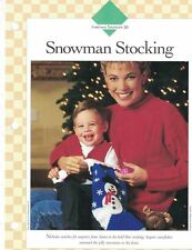 Snowflake Christmas Stocking Crochet Single Pattern Vanna White