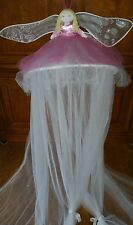 Pottery Barn Kids Girls Fairy Princess Tulle Bed Canopy White & Pink Netting