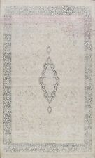 Semi Antique Muted Kirman Area Rug Distressed Hand-knotted Evenly Low Pile 10x13