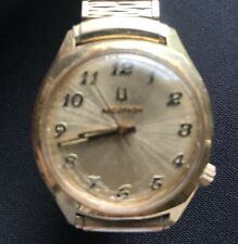 Vintage 1960' Bulova Accutron Watch 10k gold filled Tuning Fork Needs Battery
