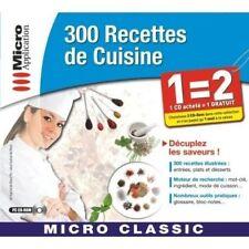 Logiciel PC 300 Recettes de cuisine Apprendre CD NEUF