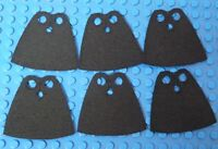 6x CUSTOM Capes For LEGO Minifig - Standard Cape Body Wear BLACK