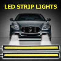 2X LED Coche Durante el  día Conducción Luces niebla De Impermeable DRL 12V