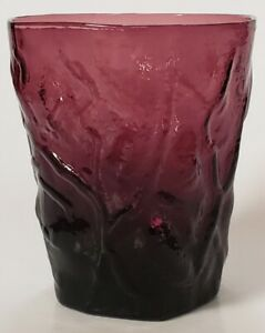 Vintage Morgantown Seneca Driftwood Plum Purple Old Fashion Glass Pressed USA