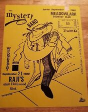 PUNK ROCK CONCERT FLYER. 1988 RAJI'S HOLLYWOOD THE MYSTERY BAND  ACE FARREN ART