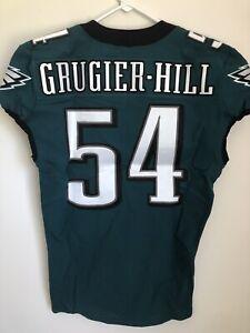 Kamu Grugier-Hill Philadelphia Eagles Green Game Used Worn Football Jersey