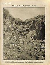 Rive Gauche Meuse Poilus Tranchée Mort-Homme Bataille Verdun Cote 304 1916 WWI