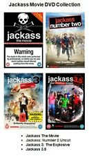 JACKASS COMPLETE MOVIE COLLECTION DVD PART 1 + 2 + 3 + 3.5 Brand New Sealed UK