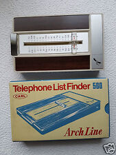 Telefonregister, Holzoptik, CARL 560 Arch Line, Telephone List Finder #179
