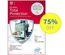 McAfee Total Protection 2018 Antivirus for Windows - 3 PC, 1 Year (Subscription)