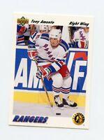 91-92 UPPER DECK ROOKIE RC #450 TONY AMONTE RANGERS *65419