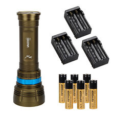 Underwater 18000Lm SCUBA Diving 9X XM-L2 LED Flashlight Torch 6x18650+3x Charger
