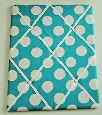 "20""x16"" Ribbon Photo/Memo Display Board (Teal/White) ~ Cute!"