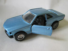 1980s Yatming 1:43 Blue Mercedes-Benz Pull Back & Go Car #8304 Thailand