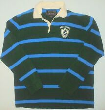 Mens XL Abercrombie & Fitch LS Rugby Polo Shirt 35 Sleeve Lion Rampart Striped