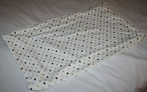 """Carters Baby DOTS MINKY PLUSH CONTOURED Changing Pad Cover 15"""" x 31"""" x 5"""" Soft"""