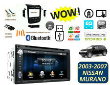 Fits 2003-2007 NISSAN MURANO BLUETOOTH TOUCHSCREEN STEREO KIT AUX MP3 DVD USB
